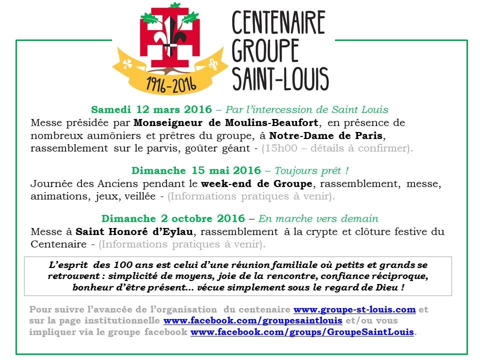 100 Ans du Groupe Saint Louis programme - V09122015